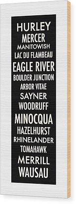 Northern Wisconsin Wood Print