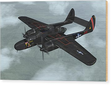 Northrop P-61 Black Widow Wood Print by Walter Colvin