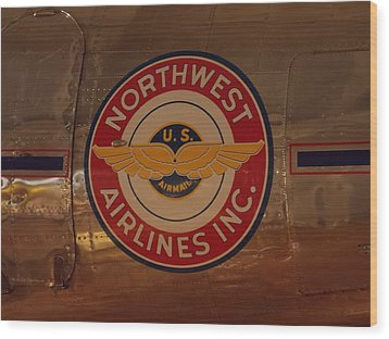 Northwest Airlines 1 Wood Print