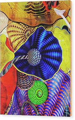 Northwest Glass 2 Wood Print by Greg Sigrist