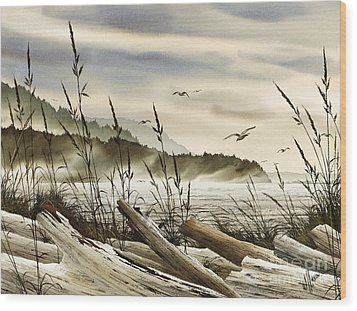 Northwest Shore Wood Print by James Williamson