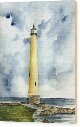 Northwood Lighthouse Wood Print by Michael Vigliotti