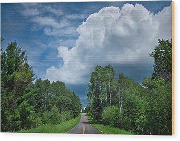 Northwoods Road Trip Wood Print by Steve Gadomski