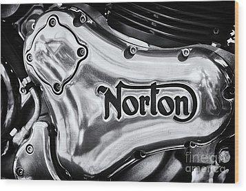 Wood Print featuring the photograph Norton Commando 961 Engine Casing by Tim Gainey