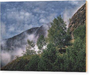 Norway Mountainside Wood Print