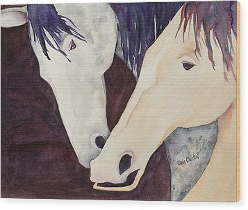 Nose To Nose II Wood Print by Renee Chastant