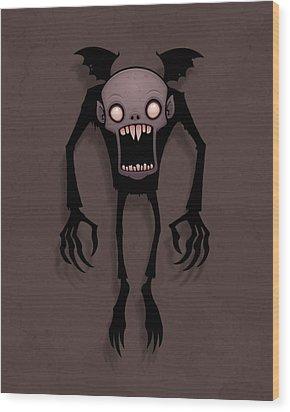Nosferatu Wood Print by John Schwegel