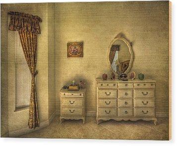 Nostalgic Harmonies  Wood Print by Evelina Kremsdorf