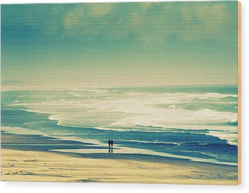 Nostalgic Oceanside Oregon Coast Wood Print