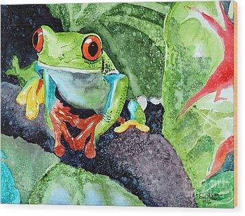 Not Kermit Wood Print by Tom Riggs