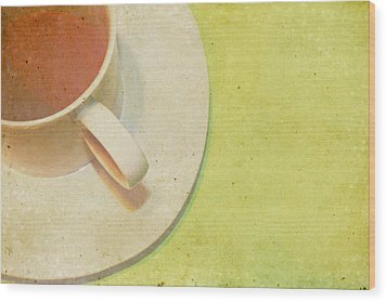 Not Starbucks II Wood Print by Rebecca Cozart
