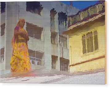 Not Sure Wood Print by Prakash Ghai