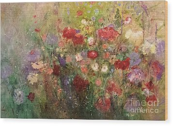 Nothing But Flowers Wood Print by Frances Marino