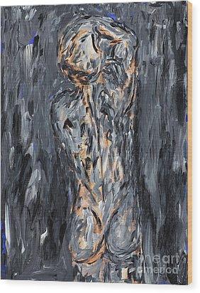 Nothing Is Everything  Wood Print by Samir Patel