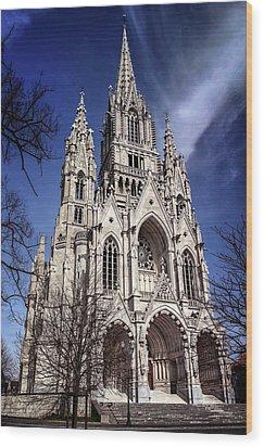Wood Print featuring the photograph Notre Dame De Laeken In Brussels  by Carol Japp