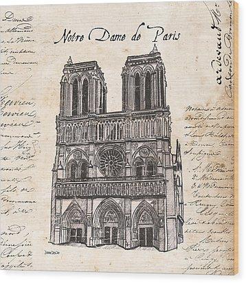 Notre Dame De Paris Wood Print by Debbie DeWitt