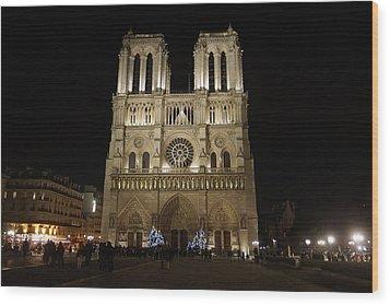 Notre Dame De Paris Wood Print by Erik Tanghe