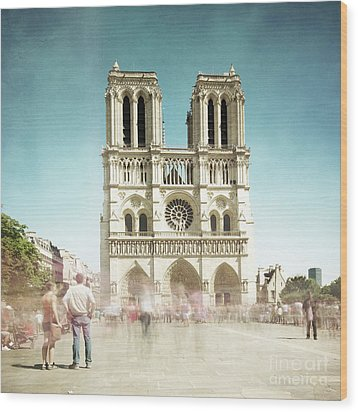 Wood Print featuring the photograph Notre Dame by Hannes Cmarits