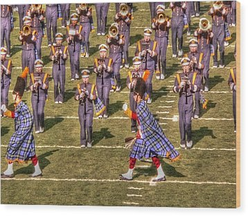 Notre Dame Marching Band Wood Print by David Bearden