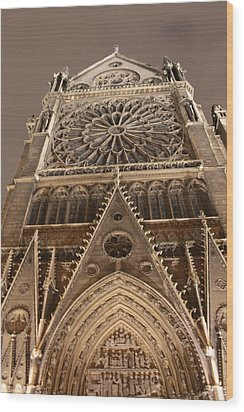 Wood Print featuring the photograph Notre Dame North by Christopher Kirby