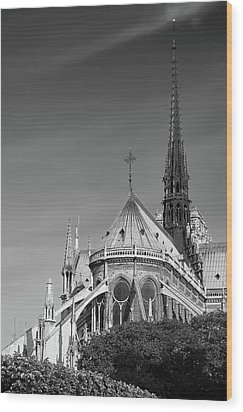 Wood Print featuring the photograph Notre Dame, Paris, France. by Richard Goodrich
