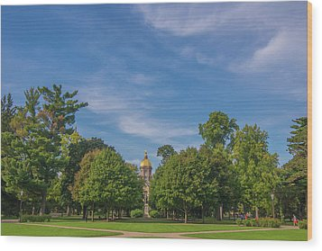 Wood Print featuring the photograph Notre Dame University 6 by David Haskett