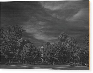 Wood Print featuring the photograph Notre Dame University 6a by David Haskett
