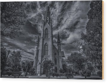 Wood Print featuring the photograph Notre Dame University Church by David Haskett