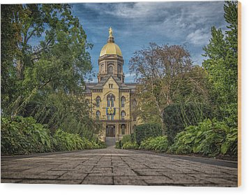 Wood Print featuring the photograph Notre Dame University Q1 by David Haskett