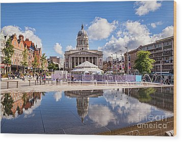 Wood Print featuring the photograph Nottingham, England by Colin and Linda McKie