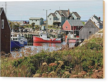 Wood Print featuring the photograph Nova Scotia Fishing Community by Jerry Battle