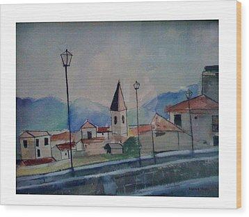 Novara Revisited Wood Print by Angela Puglisi