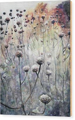November Wood Print by Arleana Holtzmann