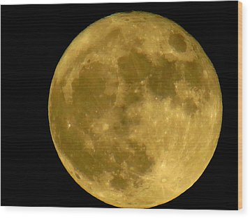 Wood Print featuring the photograph November Full Moon by Eric Switzer