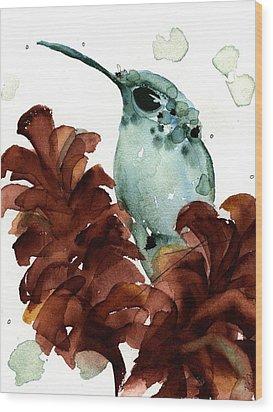 November Hummer Wood Print