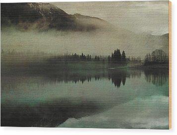 November Lake Wood Print by AugenWerk Susann Serfezi