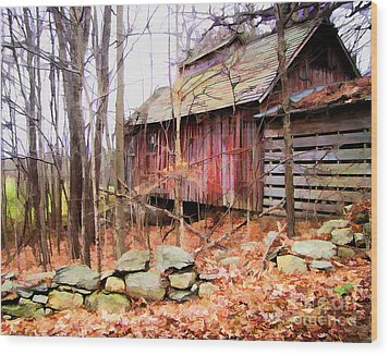 November Stark Wood Print by Betsy Zimmerli