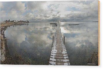 November Skies Wood Print by Robert Lacy