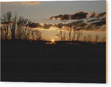 November Sky Wood Print by Alexandra Harrell