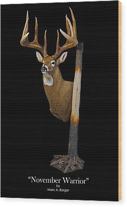 November Warrior Wood Print by Marc  Barger