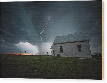 Wood Print featuring the photograph Nowhere To Run by Aaron J Groen