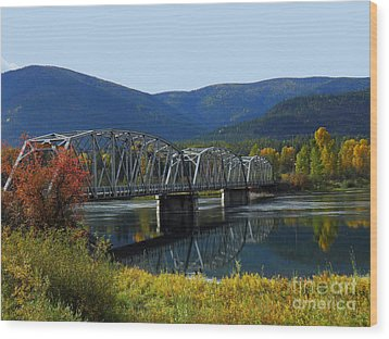 Noxon Bridge Wood Print by Tonya P Smith