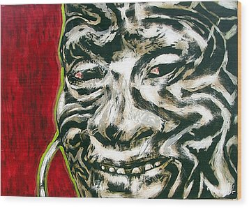 Nuba Paint Wood Print by Chester Elmore