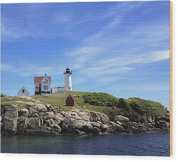 Wood Print featuring the photograph Nubble Light House by Linda Constant