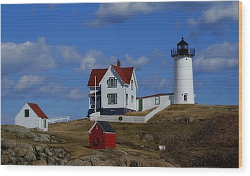 Nubble Light Wood Print by Lois Lepisto