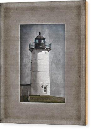 Nubble Light Maine Wood Print by Carol Leigh
