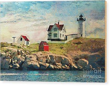 Nubble Light - Painted Wood Print