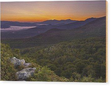 Nubble Sunrise Wood Print
