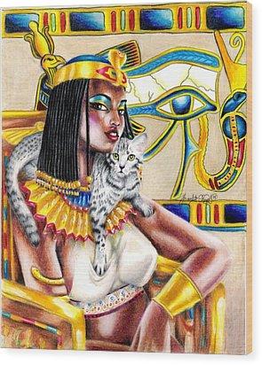 Nubian Queen Wood Print by Scarlett Royal