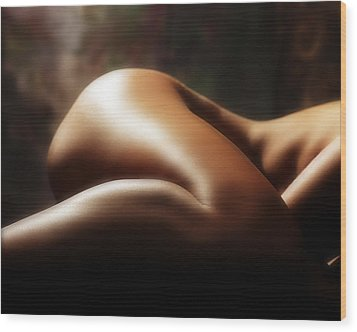 Nude 1 Wood Print by Anthony Jones